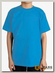 """Футболка подростковая для мальчика с коротким рукавом цвет """"бирюза"""""""