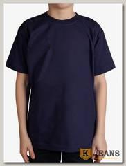 "Футболка подростковая для мальчика с коротким рукавом цвет ""темно-синий"""