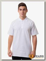 """Рубашка поло мужская Мос Ян Текс цвет """"Белый"""" с белыми полосками"""