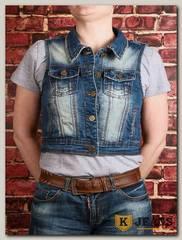 Жилет женский джинсовый Haodi HD99-257S