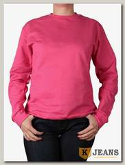 Толстовка-джемпер (осень) без капюшона темно-розовый