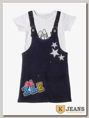 Комплект сарафан с футболкой для девочки Cool Bear 0903-1