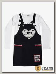 Комплект сарафан с футболкой для девочки Cool Bear 0921-1