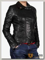 Куртка женская кожаная ZG D-1620