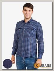 Рубашка мужская утепленная Sainge 5506-2