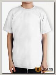 """Футболка подростковая для мальчика с коротким рукавом цвет """"белый"""""""