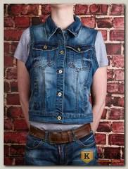 Жилет женский джинсовый Haodi HD99-256BM