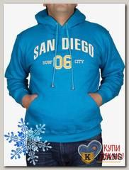 "Толстовка-кенгуру (зима) бирюза ""San Diego"" МТКП-3063"