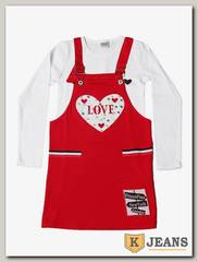 Комплект сарафан с футболкой для девочки Cool Bear 0921-2