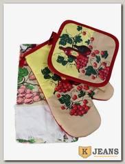 Комплект подарочный полотенце/прихватка/рукавица НКП-010-2