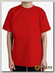 """Футболка подростковая для мальчика с коротким рукавом цвет """"красный"""""""