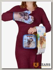 Комплект подарочный полотенце/прихватка/рукавица НКП-008-8