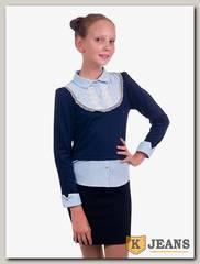 Рубашка-обманка для девочки Kids 72-4