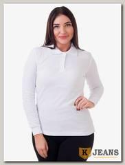 """Рубашка поло женская Мос Ян Текс цвет """"Белый"""" д/р"""