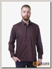 Рубашка мужская однотонная Platin LU-3917