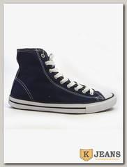 Кеды женские высокие CONVERSE 102307 синий