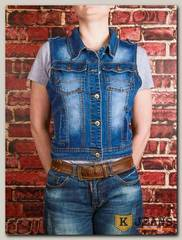 Жилет женский джинсовый Haodi HD99-259BM