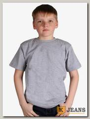 "Футболка подростковая для мальчика с коротким рукавом цвет ""серый-меланж"""