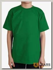"""Футболка подростковая для мальчика с коротким рукавом цвет """"зеленый"""""""