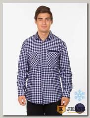 Рубашка мужская утепленная Sainge 5906-5