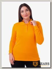 """Рубашка поло женская Мос Ян Текс цвет """"Оранжевый"""" д/р"""