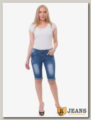 Бриджи женские джинсовые Miss Bon MB390