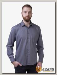 Рубашка мужская однотонная Platin LU-1110