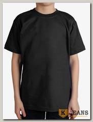 """Футболка подростковая для мальчика с коротким рукавом цвет """"черный"""""""