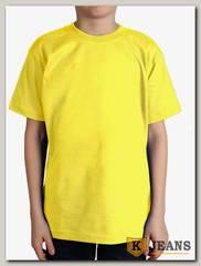 """Футболка подростковая для мальчика с коротким рукавом цвет """"лимон"""""""