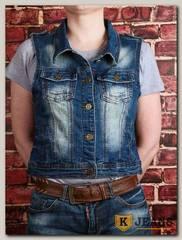 Жилет женский джинсовый Haodi HD99-258AM