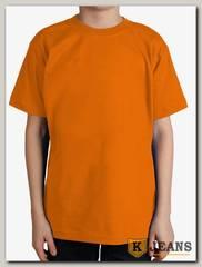 """Футболка подростковая для мальчика с коротким рукавом цвет """"оранжевый"""""""