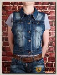 Жилет женский джинсовый Haodi HD99-255BM
