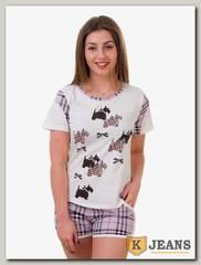 Пижама женская двойка 825