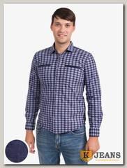 Рубашка мужская утепленная Sainge 5506-1