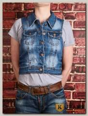 Жилет женский джинсовый YJS YL3049M
