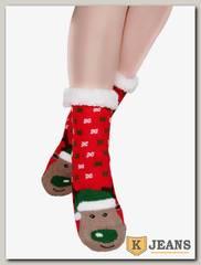 Носки-тапочки женские меховые АНГЕЛ D11-1