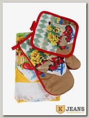 Комплект подарочный полотенце/прихватка/рукавица НКП-010-7