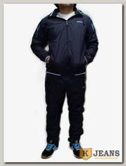 Костюм спорт. муж Billcee 209-7-2, темно-синий с голубым