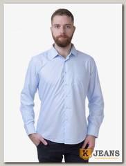 Рубашка мужская однотонная Platin LU-3908