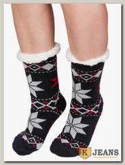 Носки-тапочки женские меховые D-06-6