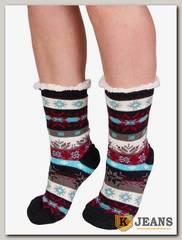 Носки-тапочки женские меховые D-03-1