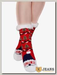Носки-тапочки женские меховые АНГЕЛ D12-1