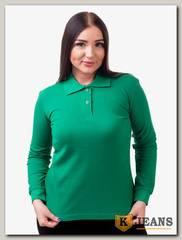 """Рубашка поло женская Мос Ян Текс цвет """"Зеленый"""" д/р"""