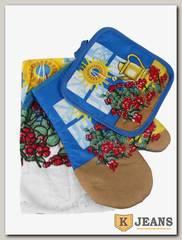 Комплект подарочный полотенце/прихватка/рукавица НКП-010-9