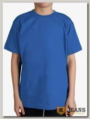 """Футболка подростковая для мальчика с коротким рукавом цвет """"темно-голубой"""""""