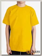 """Футболка подростковая для мальчика с коротким рукавом цвет """"желтый"""""""