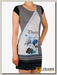 Платье трикотажное Ромашка П110