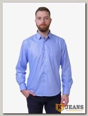 Рубашка мужская однотонная Platin LU-3911