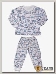 Пижама для мальчика утепленная Кидис ПДМ-03-2