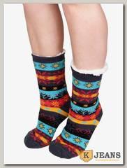 Носки-тапочки женские меховые D-03-4